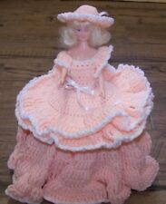 Hand Crocheted Container with Doll Lid