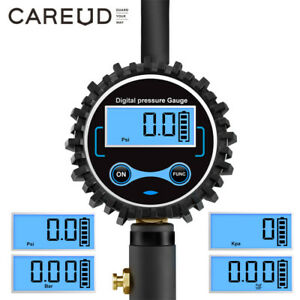 Digital Tire Tyre Inflator Pressure Gauge 200 PSI Fit Car Bike Truck Motorcycle