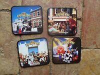 1992 WARNERS  BROS MOVIE WORLD GOLD COAST SET 4 COASTERS CORK ,PLASTIC, CARD