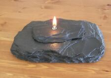 Slate Oil Lamp Candle - Fire Rock - Real Natural Rock New Black - L🙄🙄K
