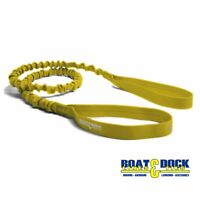 Extra Long Dock Tie Bungee , 5 Feet long Stretches to 8 Feet Yellow