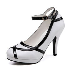 Fashion Women Vintage Shoes Dress Party Prom High Heels Bridal Buckle New Pumps