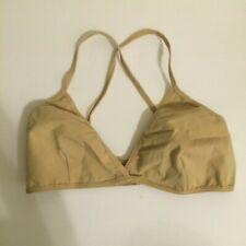 American Apparel Jersey Crossback Bralette size Medium (M), Nude/Beige