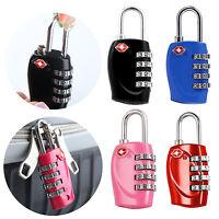 TSA Approved Luggage Lock Suitcase Travel Security Padlock 4 Dial Combination UK