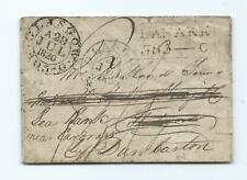 GREAT BRITAIN: Cover Glasgow, Lanark toDunbarton 1820, contents.