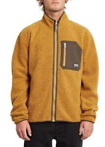 Volcom Muzzer Fuzzar Zip Fleece Golden Brown