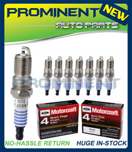 8  Genuine OEM Replacement for Ford Motorcraft Spark Plugs SP413 (AGSF32N)