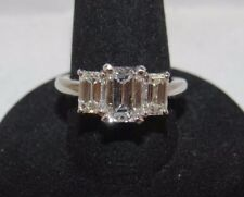 GIA Diamond Three Stone Ring