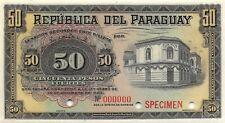 Paraguay  50  Pesos Fuertes  30.12.1920  P 145s  Specimen Uncirculated Banknote