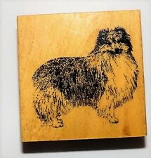Shetland Sheepdog Stamp Gallery Wood Rubber Mounted NEW