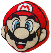 "Little Buddy Super Mario Bros 1259 Mario Face 11"" Cushion Stuffed Plush Pillow"