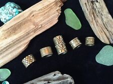 Bronze Dreadlock Beads 5 x  5-7.5mm Hole Viking Celtic Beard Beads Mix Dreads UK