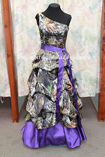 'Lindy' Custom Made in the USA CAMO PICK UP Prom Wedding Bridesmaids Dress