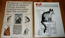 "New listing B. Kliban Cat Posters W/Original Envelope Six (6) 8""x24"" 1977 WorkmanPublishing"