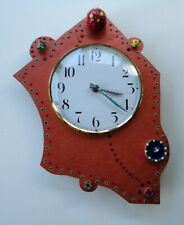 Wild Bill Tick Tock Merideth Santa Fe Hand Painted Art Memphis Style Wall Clock