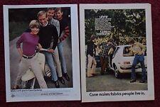 Lot of 4 Diff Levi's Cone Corduroy Slacks Print Ads ~ Lambretta Scooter Boxing +