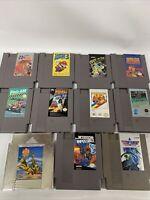 Lot Of 11 Classic Nintendo Entertainment System NES Games SUPER MARIO 3