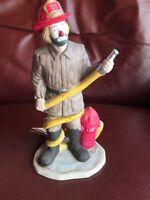 NWT Flambro 1984 Emmett Kelly Jr. Clown Firefighter