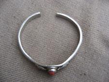 Antique Handmade Tibet 92.5% Silver Coral Ganesh Bracelet, Nepal