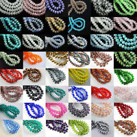 Wholesale 20Pcs 14x10mm Faceted Glass Loose Crystal Beads Spacer Rondelle Bead