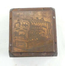Vintage Letterpress Printing Block - Copper Curio 45mm