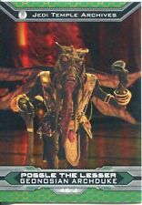 Star Wars Chrome Perspectives II Gold Parallel Base Card 46-J Poggle The Lesser