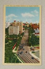Vintage Postcard Los Angeles California CA Wilshire Boulevard Blvd Palm Lined