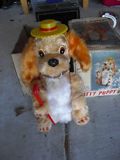 "Rare 1960s Alps Battery Operated Patty Puppy Dog in Box 11"" Tall"