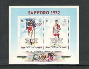 GRENADA - 11TH WINTER OLYMPIC GAMES - SOUVENIR SHEET #439A - MNH - YR 1972
