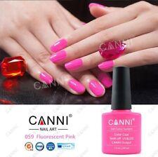059 Canni Fluorescente Rosa UV Led Soak Off Gel Colores Nail Art 7.3ml Reino Unido Vendedor
