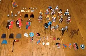 Nr. 7453 Playmobil Ritter Figuren + Pferde + Zubehör Konvolut / Sammlung