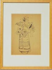 Zeichnung Nini Consolaro Stillleben Blumen 1972 Sammlung Karl Schott 37 x 28 cm
