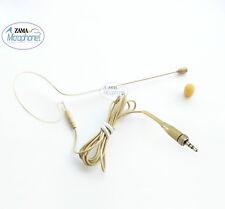 Beige Single Hook Headset Mic ZAMA MA4-CSE  Headworn Mic For Sennheiser Wireless