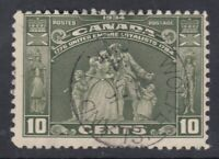 "Canada CDS Cancel Scott #209 10 cent Loyalist Statue ""Loyalists""  F"