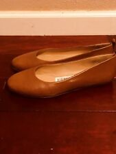 Nurture Vasa Light Brown Round Toe Ballet Flat Women's Shoes Size 10M