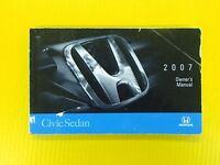 Civic Sedan 07 2007 Honda Owners Owner's Manual OEM Genuine