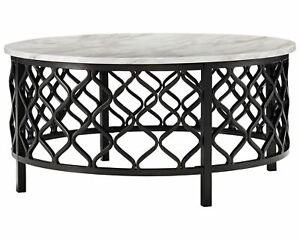 Signature Design by Ashley Trinson Round Cocktail Table, Two-tone