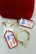 GoldNMore: 18K Ring Gold S6.5 S7 1pc