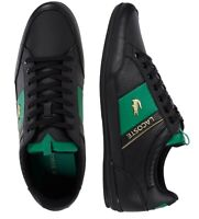 Lacoste Men Shoes Chaymon 0120 1 Leather Casual Sneakers Shoes Black Green