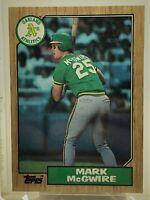 Mark McGwire Rookie #366 1987 Topps Baseball Oakland Athletics