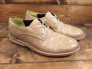 Cole Haan Cream Leather Plain Toe Oxford Men's Shoes Sz 10M C10678