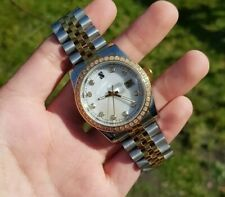 Mens Sterile Homage Watch Parnis 37.5mm Two Tone Iced Out Bezel auto Bliger UK