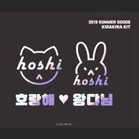 2019 Kpop SEVENTEEN Laser Sticker HOSHI Cat Rabbit Phone Case Stickers 6cm