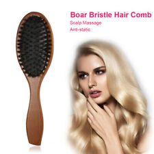 High Quality of Portable Wooden Handle Anti-static Scalp Massage Hair Comb tool.