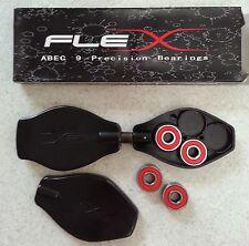 Pack of 8 abec9 bearings (608) - longboard skateboard rip stick in-lines skates
