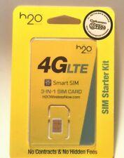 H2O Wireless 3-in-1 Sim card Regular, Micro, Nano. *At&T & Unlocked Phones* H20