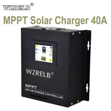 40A Mppt Solar Charge Controller 12/24/36/48V Battery Charger 170V Pv Solar In
