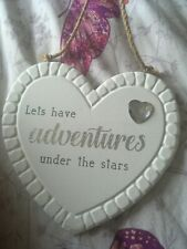 Let's Have Adventures Under The Stars Heart Plaque