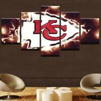 Kansas City Chiefs Football 5 pcs Painting Printed Canvas Wall Art Home Decor
