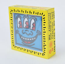 Vintage Keith Haring Pop Shop AM FM Radio 1985 Blue Three Eyed Face New in Box